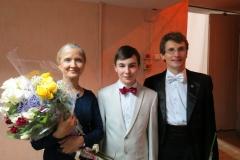 Влад с директором и дирижёром ДСО